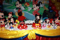 Mickey and Minnie Twin Birthday Party Theme boy girl twins idea