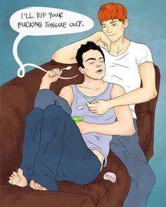 Ian and Mickey <3 <3 <3 Too cute!