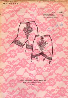 Dolores of St. Paul 7028  1970s  Misses  Girdle Trio womens vintage lingerie sewing pattern with crotch crotchless panty girdle by mbchills