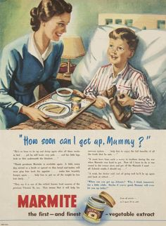 Issue: 7 Oct 1950 - The Australian Women's Week. Vintage Advertisements, Vintage Ads, Vintage Antiques, British Traditions, Book Posters, Marmite, Old Ads, Vintage Recipes, Vintage Books