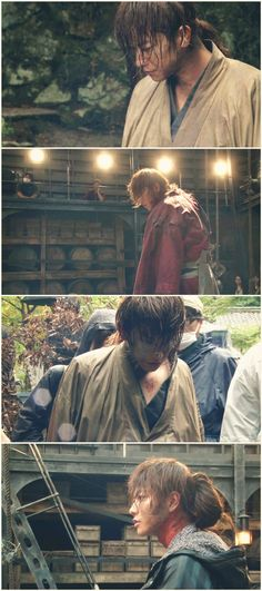 Making of Rurouni Kenshin live action. Takeru Satoh as Kenshin Himura, with crew.