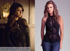 Katherine Pierce (Nina Dobrev) wears this lace panel blouse in this upcoming episode of The Vampire Diaries. It is the Bebe Sleeveless Lace Blouse. Unfortunately it is unavailable All Outfits from The Vampire Diaries Other Outfits from The Vampire Diaries … Continue reading →