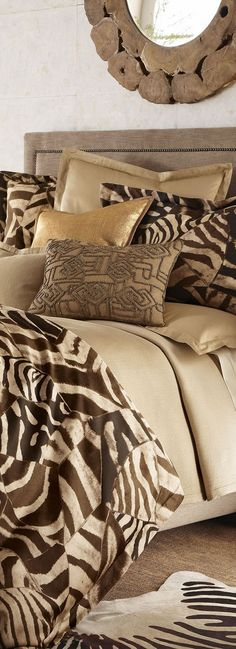 Gorgeous Ralph Lauren bedding via @BuyerSelect. #patternplay #RalphLauren