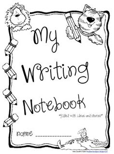 writing journal cover printable - Google Search   My Kindergarten ...