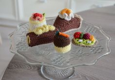 Hey, I found this really awesome Etsy listing at https://www.etsy.com/listing/260618746/crochet-pastry-pie-petit-fours-5-pieces