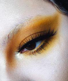 ANNA ✨ (@succuvus) on Instagram: mustard yellow eyeshadow