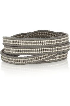 Chan Luu | Leather and bead five wrap bracelet | NET-A-PORTER.COM