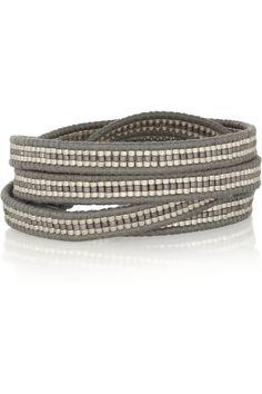 Chan Luu | Leather and bead five wrap bracelet | NET-A-PORTER.COM
