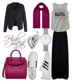 Jun 2017 - A fashion look from June 2017 featuring scoop neck tee, zipper jacket and maxi skirts. Browse and shop related looks. Maxi Outfits, Hijab Outfit, Cute Modest Outfits, Chic Outfits, Islamic Fashion, Muslim Fashion, Hijab Fashion, Modest Fashion, Daniel Wellington