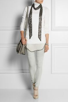 Isabel Marant | Purdie studded silk-georgette top | NET-A-PORTER.COM **great in black or cream :D