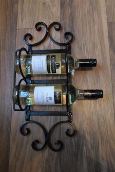 Wrought Iron 2 Bottle Wine Rack Kit
