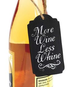 'More Wine' Chalkboard Wine Tag #zulily #zulilyfinds