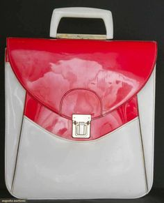 Mod Patent Leather Handbag, France, 1960s, Augusta Auctions, November 13, 2013 - NYC, Lot 284