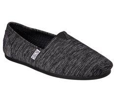 Damen Skechers Bobs Plush Best Wishes Light Grau Slip On