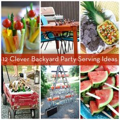 Short on space and time? These 12 clever ways to serve food and drinks just might save your next backyard get-together.