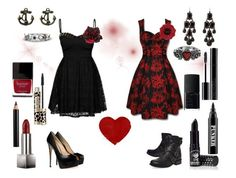 """""""Prom"""" by fairytale-reality ❤ liked on Polyvore featuring Hell Bunny, Ardency Inn, Accessorize, Clarins, Gemvara, Charlotte Russe, Giuseppe Zanotti, Alessandra Rich, UGG Australia and Burberry"""