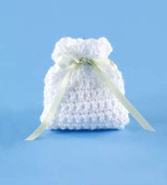 Lion Brand offers a free crochet pattern for this little wedding favor bag.