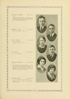 Athena yearbook, 1922. A senior class portrait page. :: Ohio University Archives