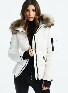 Winter Jackets Women, Fur Trim, Black, Fashion, Moda, Black People, La Mode, Fasion, Fashion Models