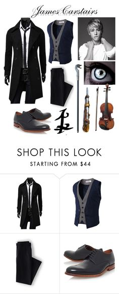 """""""Jem Carstairs - Infernal Devices"""" by x-sweetea-x ❤ liked on Polyvore featuring Lands' End, Grenson, Rune NYC, JEM, P & Lot, LE'VAR, men's fashion and menswear"""