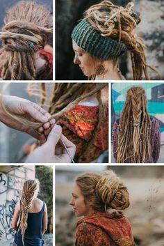 Dreadlock Hairstyles for women. Dreadlock Beads, Tools and Accessor Half Dreads, Short Dreads, Blonde Dreadlocks, Dreads Girl, Locs, Dread Braids, Dreadlock Beads, Dreadlock Styles, Dreads Styles For Women
