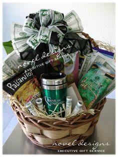 BofN #Money #GiftBasket.  Custom designed gift baskets for everyday occasions and corporate events delivered #LasVegas. noveldesignsllc.com