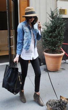 Love her jean jacket (sin el perrito, en serio)