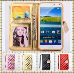 Samsung Galaxy Note4 Phone Cases Gold Luxury Glitter Diamond PU Wallet Leather Case For Samsung Galaxy Note 4 N9100 Cover