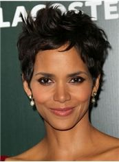 Quality Wigs Short Wavy Sepia African American Lace Wigs for Women 6 Inch