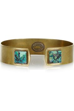 Brass and turquoise cuff by Isabel Marant