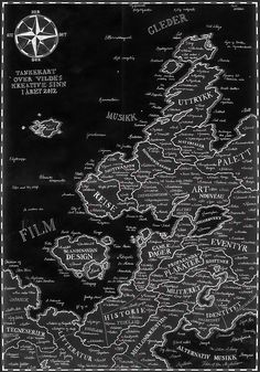 A map of the person that is Vildensky.  NOTE: Only comprehensible for you Norwegian // Danish // Swedish // Icelandic // German // Anglo Saxon speaking people out there.