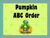 Pumpkin ABC Order for Interactive Whiteboard product from hhdover on TeachersNotebook.com