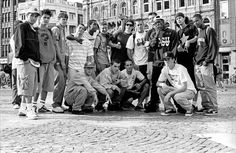World Industries, Blind, 101, Menace, Plan B - Euro Tour - Amsterdam, 1995 Standing L to R‭ - ‬Fabian Alomar‭, ‬unknown‭, ‬Kelly Bird‭, ‬Henry Sanchez‭, ‬Keenan Milton‭, ‬Yves‭, ‬Colin Mckay‭, ‬Pat Duffy‭, ‬Chris Hensley‭,‬‭ ‬Eric Pupecki‭, ‬Kareem Campbell, Joey Suriel‭, ‬unknown‭, ‬Front L to R‭ - ‬Ronnie Bertino‭, ‬Gino Ianucci‭, ‬Matt Hensley‭, ‬Jeremy Wray‭