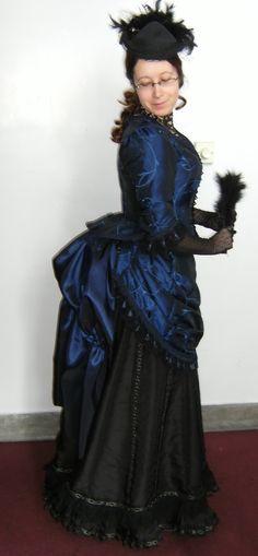 victorian bustle dress - side by numberjumble.deviantart.com on @deviantART