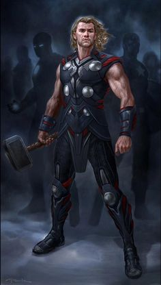 Thor - The Avengers Concept Art