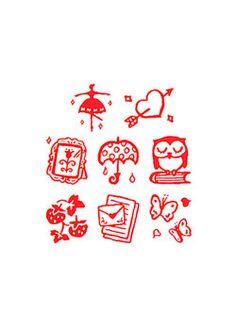 8 Kawaii Old Japanese Modern Style Planner/ Scrapbook / Journal/ Schedule Decor Rubber Stamp Set. by niconecozakkaya on Etsy