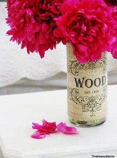 Charming Burlap Vase Cover Tutorial