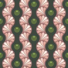 drop splash wavy stripe : oolong scented fabric by sef on Spoonflower - custom…