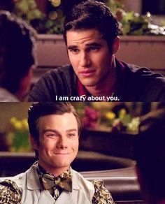 Kurt and Blaine aka Klaine - from Glee season 2 (AMAZING tv show! Chris Colfer, Darren Criss, Blaine And Kurt, Rachel And Finn, Glee Memes, Netflix, Glee Club, Cute Gay, Best Couple