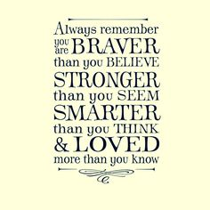 Always Remember You Are Braver Than You Believe . Winnie The Pooh Quote,  Lettering Art, Vinyl Wall Decal By OldBarnRescueCompanyu0026