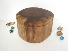Black Walnut Tree Branch Wooden Box, pet urn, valet box, wedding gift, small cremation urn, wooden jewelry box, wood jar, wood art by earnestefforts on Etsy
