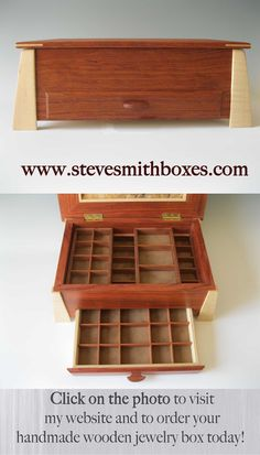 Jewelry Box for Rings, Earrings, Pendants, or Keepsakes #stevesmithboxes