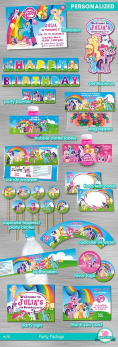 My Little Pony Printable Party Package DIY by berryniceprintables