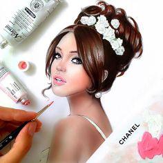 What a bridal beauty look! I like it!