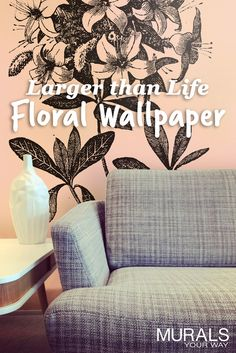 These modern floral mural designs aren't your grandma's wallpaper. So many options! #myMYWmural