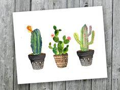 Stampa d'arte di cactus Cactus dell'acquerello di SouthPacific
