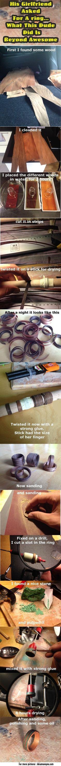 Awesome *__* wooden rings | Raddest Men's Fashion Looks On The Internet: http://www.raddestlooks.org