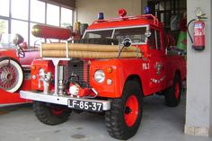 """1-Ton 109"""" Land-Rovers 1968-77 - Series IIA Antonio Santos in Portugal has kindly sent me photos of this 1-Ton fire tender which appears to be still in use."""