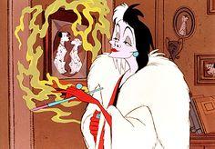 Day 14: Favorite Villian - Cruella de Ville, Cruella de Ville, if she doesn't scare you, no evil thing will. Cruella, Cruella de Ville