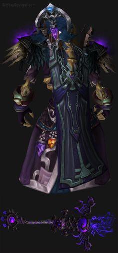 Undead Male Destruction Warlock Artifact Transmog. World of Warcraft Set Ideas